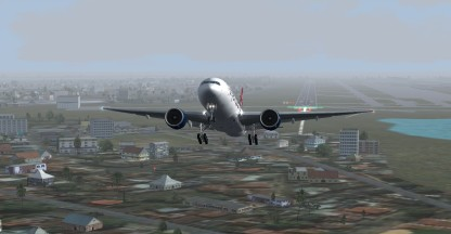 Take off from Singapore (WSSS)