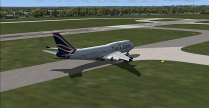 Taxiing for take off