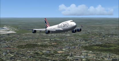 Out from EGLL, still on runway heading